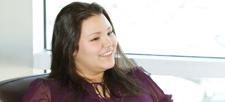 Candice Loring is only the second UBC Okanagan student to be named a Ch'nook Scholar.
