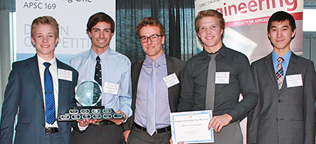 The winning group included Murray Gaffney, Matt Henry, Landon Horne, Cameron McDermid, and Yufang Soong.