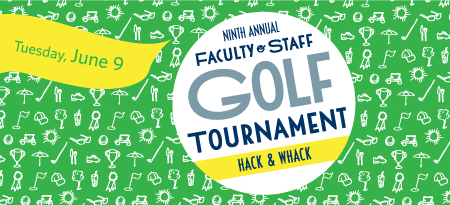 2015 Hack & Whack golf tournament graphic