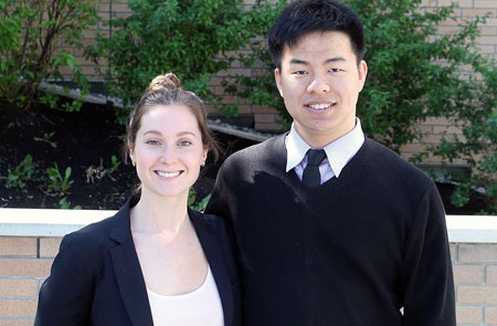 Southern Medical Program students Jackie Reid and Vincent Wong.