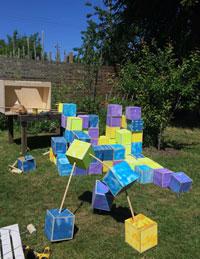 Small World, a community art event created by UBC sculpture professor Samuel Roy-Bois.