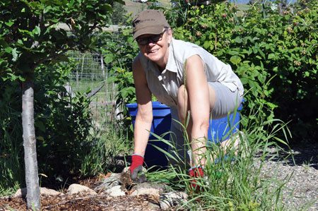 Deborah Buszard, Deputy Vice-Chancellor and Principal, recently spent a morning volunteering at the Clubhouse Farm outdoor child care and education centre.