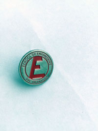 The School of Engineering's iron pin.