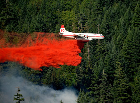 Pilot fatigue for those flying firefighting aircraft is the focus of a new research study underway with industrial partners and UBC Okanagan's Survive and Thrive Applied Research lab. Photo credit: Larry Scholle