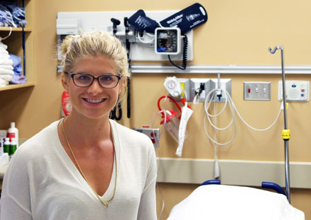 Second-year UBC medical student Hannah Duyvewaardt spent the summer keeping track of requisitions for CT scans at Kelowna General Hospital as part of a study to determine if guidelines for CT scans are being followed by emergency room doctors.