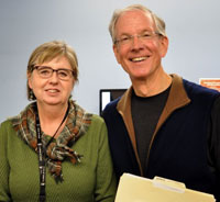 Margaret Macintyre Latta, director of the Centre for Mindful Engagement, and David Hansen.