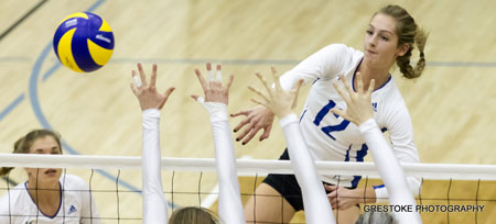 The Heat women's volleyball team won both matches in Calgary this past weekend.
