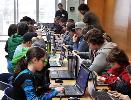 About 100 School District 23 students, aged eight to 18, spend Saturday at UBC Okanagan learning how to code. The event took place on the heels of Premier Christy Clark's announcement last week stating coding will become part of the overall K-12 curriculum redesign.