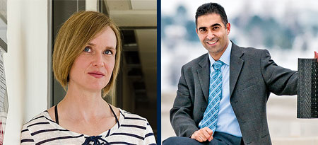 Miranda Hart, associate professor of biology, and Abbas Milani, associate professor of engineering