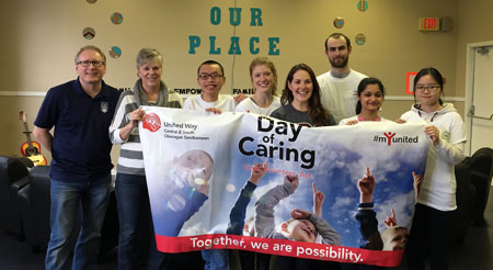Participants in UBC Okanagan's Community Service Learning program contributed nearly 300 hours of service through Days of Caring activities during Reading Week.