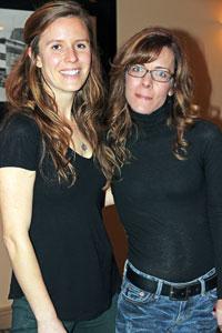 Award-winning writers Dania Tomlinson, left, and Bronwyn Berg at the 2016 Okanagan Short Story Contest ceremony.