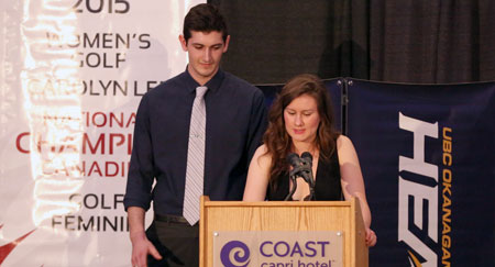 The eighth Annual Awards Athletics Awards celebrated a season's worth of accomplishments. Alex Swiatlowski and Devon Frame were emcees for the event.
