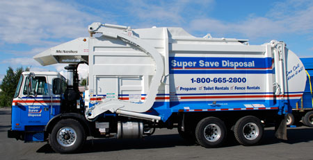 Photo of waste removal truck