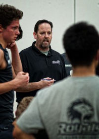 Brad Hudson coaching with Douglas College (Photo from CCAA via FLICKR)