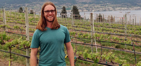 PhD candidate Taylor Holland has spent the better part of three years studying soil samples from vineyards throughout the Okanagan.