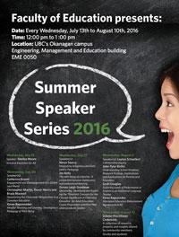 Summer Institute in Education Summer Speaker Series poster image