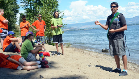 Westbank First Nation Curatorial Heritage Researcher Jordan Coble talks about the Okanagan Nation's relationship to the land and how his ancestors used to cross Okanagan Lake near the current location of the WL Bennett Bridge.