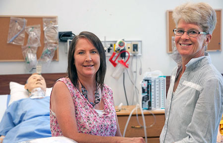 Faculty of Health and Social Development professors Rachelle Hole (left) and Kathy Rush have shown that older adults who have been discharged from the hospital following serious ailments tend to minimize or even lie about the risks related to their condition.