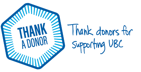 Graphic for thank a donor