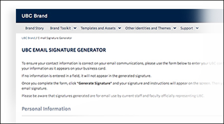 Graphic for email signatures