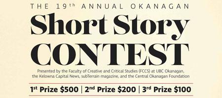 Graphic for Okanagan Short Story Contest