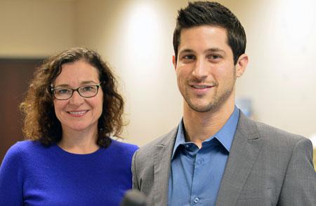 UBC professor Kathleen Martin Ginis (left) and PhD candidate Matthew Stork.