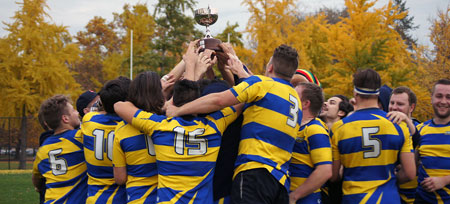 UBC Okanagan dominated in their two matches to capture the Hindson Cup this weekend. Topping both Mount Royal and Calgary in the three team tourney.