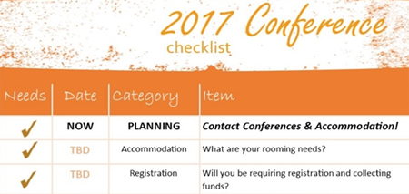 Graphic for conference planning item