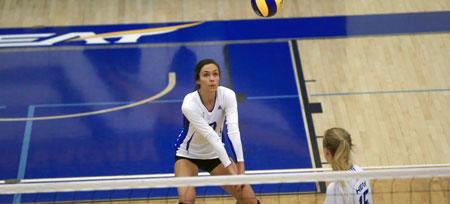 UBC Okanagan defeated the University of Manitoba 3 sets to 1 on Friday night in the UBC Okanagan gymnasium.