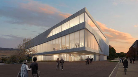 An artist's conception drawing of what the new Teaching and Learning Centre may look like once it's built.