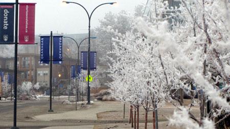 Winter weather at UBC Okanagan