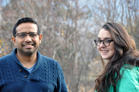 UBC researchers Matt Husain and Karina Osswald.