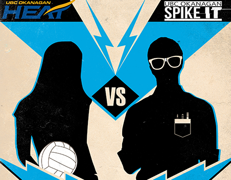 Graphic for Heat vs. IT charity volleyball match