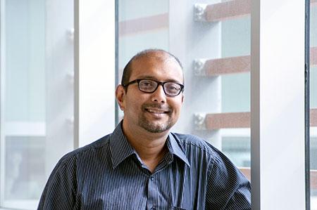 Assistant Professor of Biology Sanjoy Ghosh.
