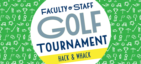 Graphic for Hack & Whack golf tournament