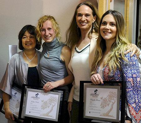 From left: Wilden award recipient Rho Shaw, Wilden award runner-up Jackie Deck, Wilden Marketing Manager Karin Eger-Blenk and Wilden award runner-up Pamela Turner.