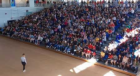 It was a packed house in the gym for Destination UBC on May 13.