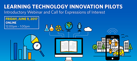 Graphic for Learning Technology Innovation Pilots webinar
