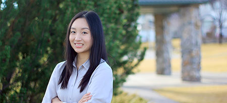 Working closely with her professor, Alice Zhang picked up research and analytical skills unheard of for most undergraduate students - and turned heads at a national conference as a result.