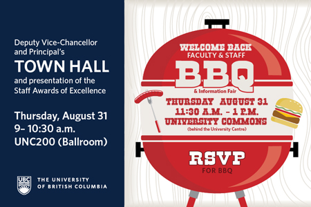 Graphic for DVC Town Hall and Faculty and Staff Welcome Back BBQ
