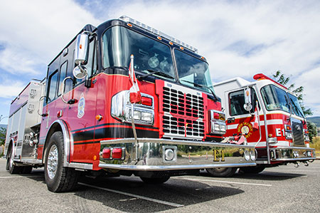 Trucks from several different local fire departments will be on campus as the Office of the Fire Commissioner and the BC Wildfire Service do advance planning work in the region.
