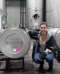 PhD candidate Sydney Morgan conducts research on wine yeast strains and how they react to sulphites.