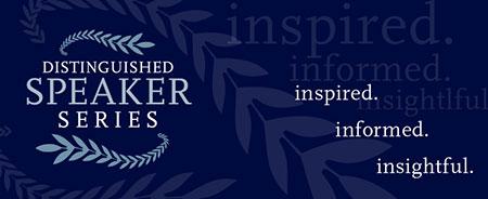 Distinguished Speaker Series banner