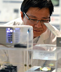 Assistant Professor of Engineering Keekyoung Kim has great hopes for the bio-ink he is researching in his lab.
