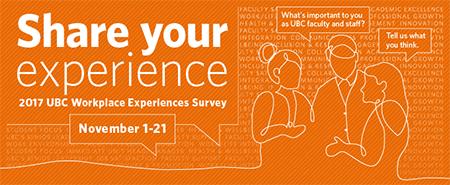 UBC Workplace Experiences Survey graphic