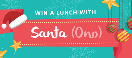 Lunch with Santa Ono graphic