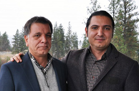 Hamid Javdani and his son, Assistant Professor of Education Mohsen Javdani.