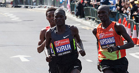 Running a marathon under two hours still eludes today's professional athletes.