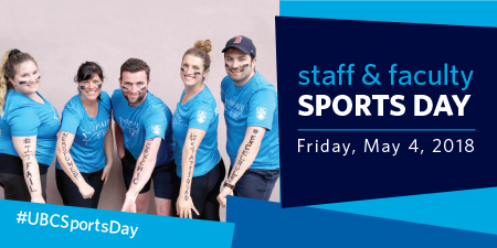 Graphic for Staff and Faculty Sports Day
