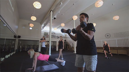 Image of women working out from Project MOVE video